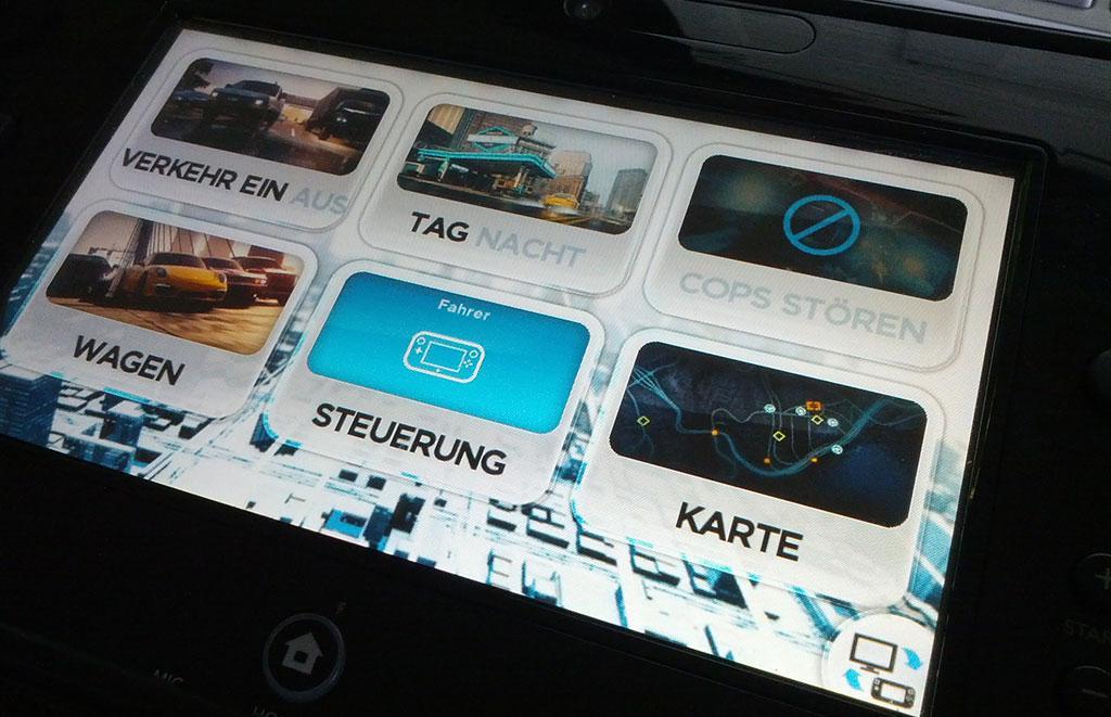 Einstellungen am GamePad