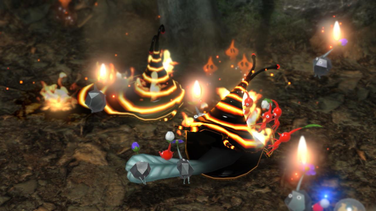 Rote Pikmin sind unempfindlich gegen Feuer.